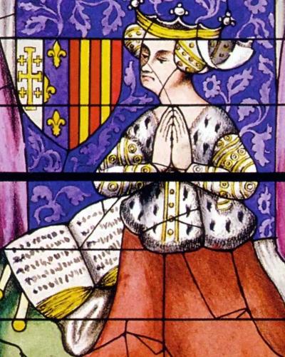 vitrail cathédrale du mans Yolande d Aragon